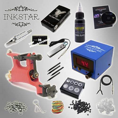 Tattoo kit inkstar venture rotary and radiant black ink for Tattoo kit rotary