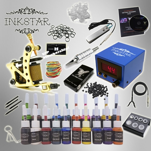 Tattoo kit inkstar venture c kit with truecolor 20 ink set for Supplies for tattooing