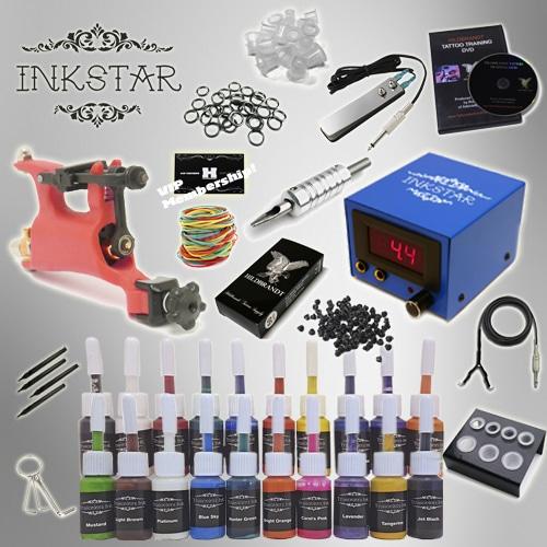 Tattoo kit inkstar venture rotary and truecolor 20 ink set for Tattoo kit rotary
