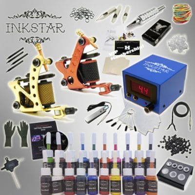 Inkstar Tattoo Kit with 20 Color Ink