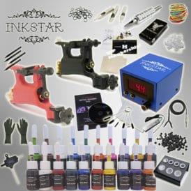 Inkstar rotary tattoo kit with 20 inks