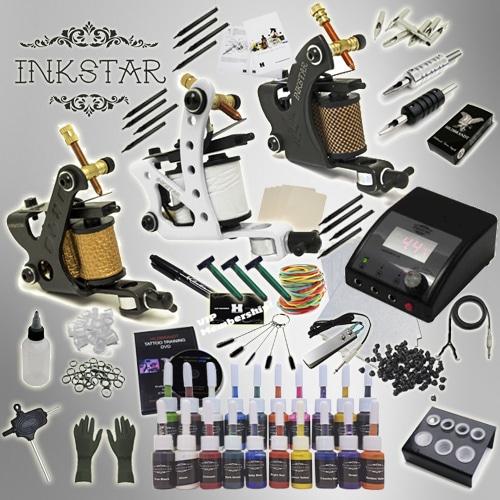 Tattoo kit inkstar apprentice c kit truecolor 20 set for Tattoo gun kits for sale