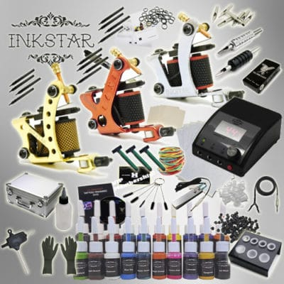inkstar tattoo kit apprentice c with case and 20 inks