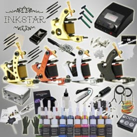 inkstar tattoo ace kit with case and 20 ink