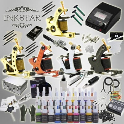 inkstar tattoo ace kit with case and 40 ink