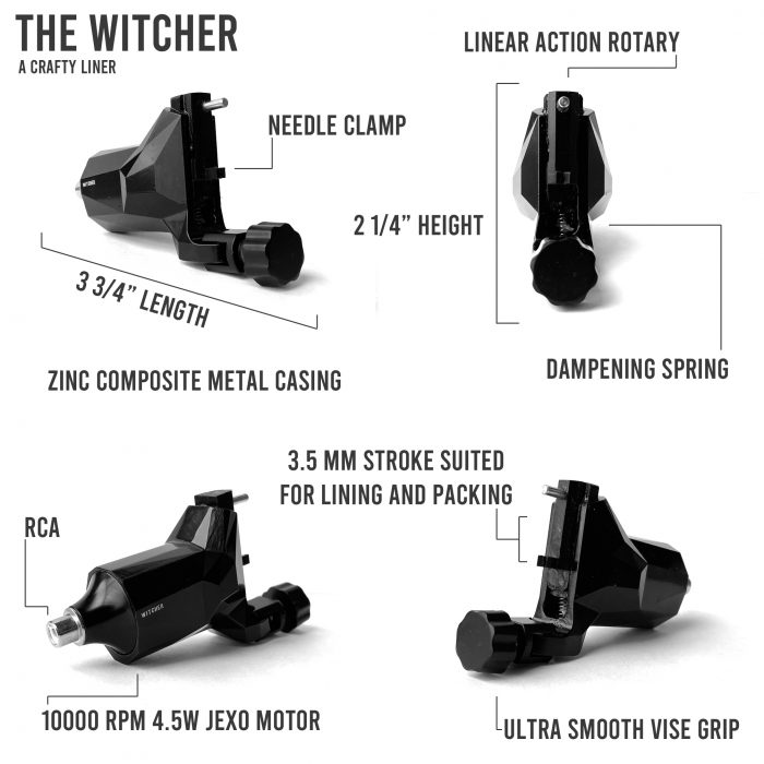 Hildbrandt Witcher Rotary Tattoo Machine 2