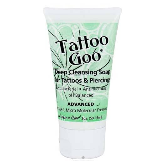 Tattoo goo deep cleansing soap 2oz for Good soap for tattoos