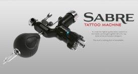 sabre rotary tattoo machine black advert