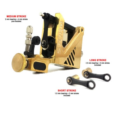 storm rotary tattoo machine brass v2 5