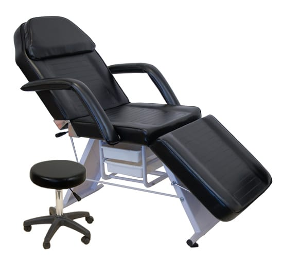 PARKER Tattoo Shop Chair/Bed - Adjustable with Stool