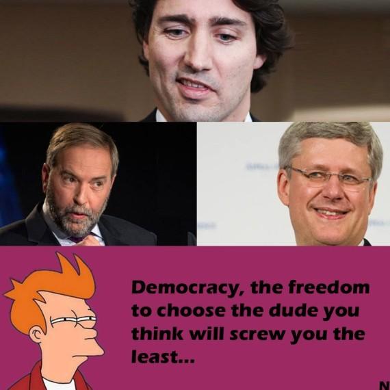 Harper Trudeau Mulcaire Funny Meme