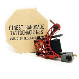 dickie golden bullet hole red coil tattoo machine 1