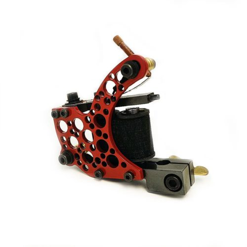 dickie golden bullet hole red coil tattoo machine 2