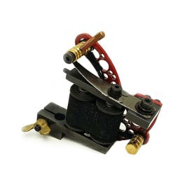 dickie golden bullet hole red coil tattoo machine 4