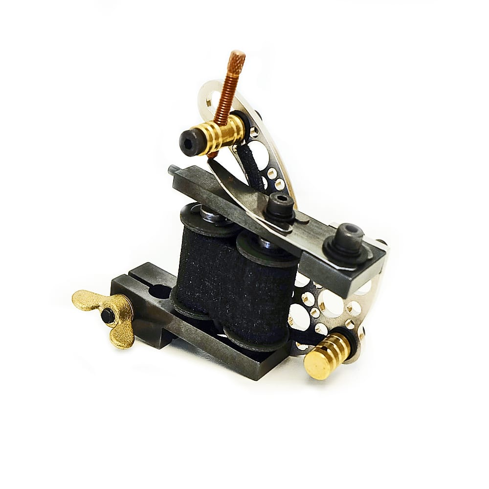 dickie golden bullet hole silver coil tattoo machine 3