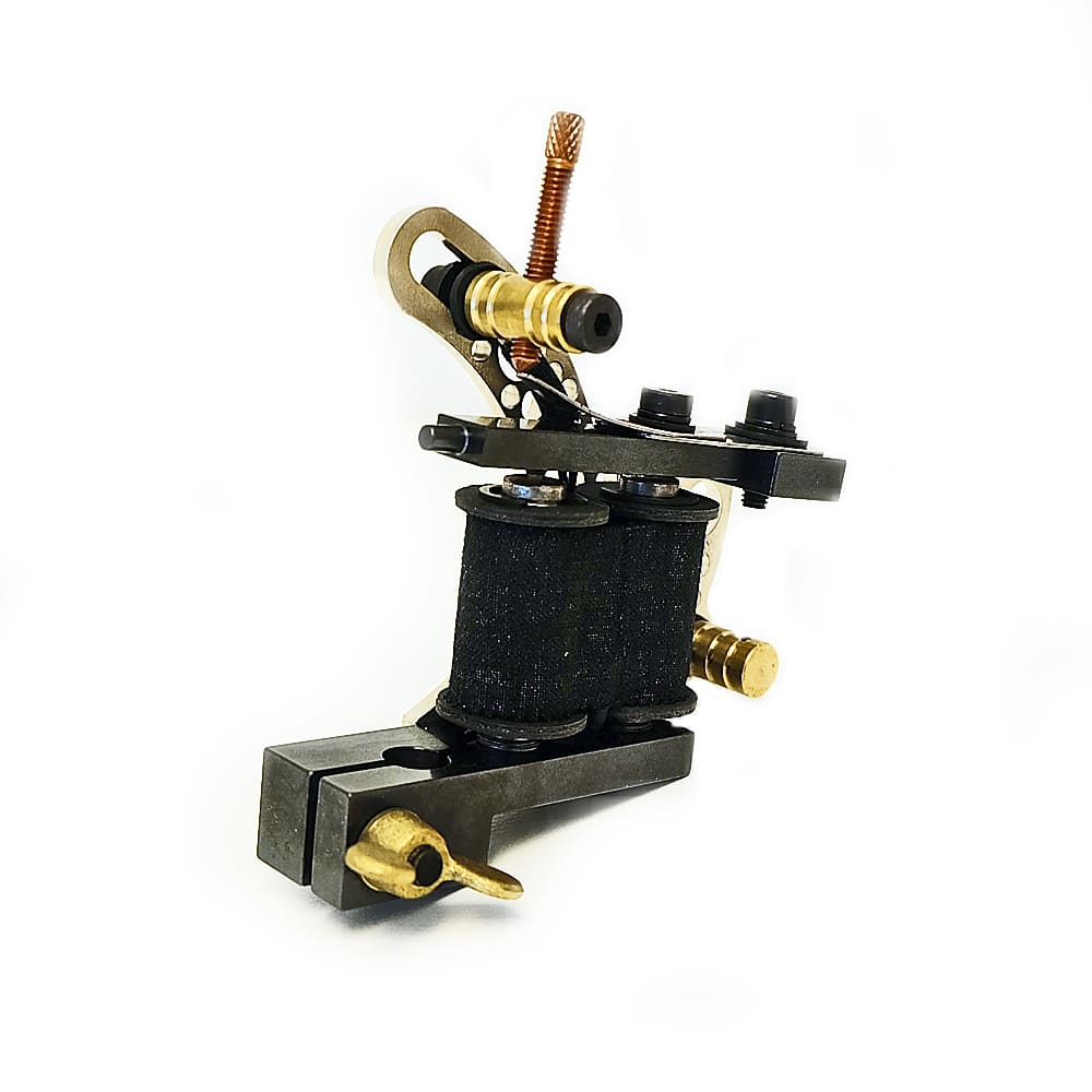 dickie golden bullet hole silver coil tattoo machine 4