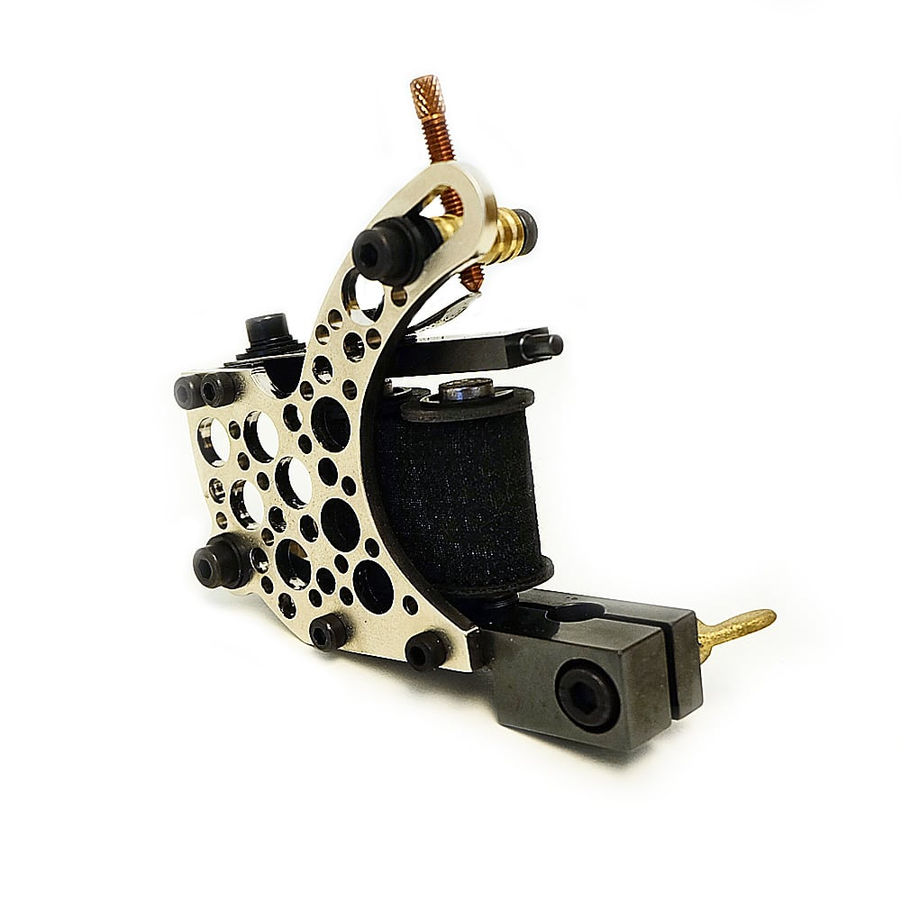 dickie golden bullet hole silver coil tattoo machine 5a
