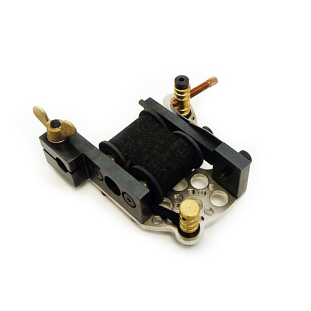 dickie golden bullet hole silver coil tattoo machine 9