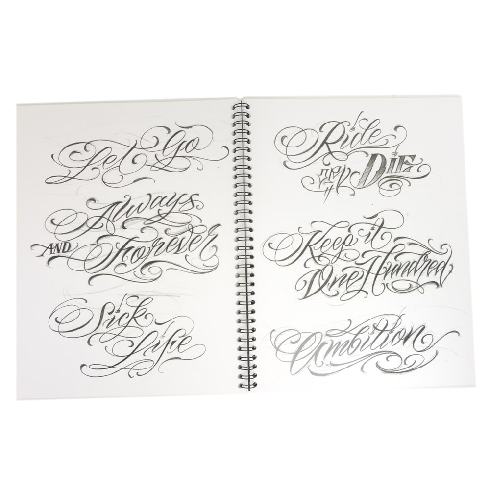 Blood Sweat & Script Tattoo Flash Design Book