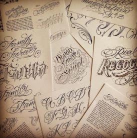 blood sweat script tattoo book 8