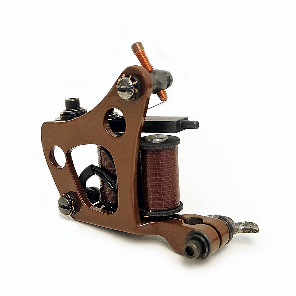 Union tattoo machine custom charlie brown jensen used by for Shader tattoo machine