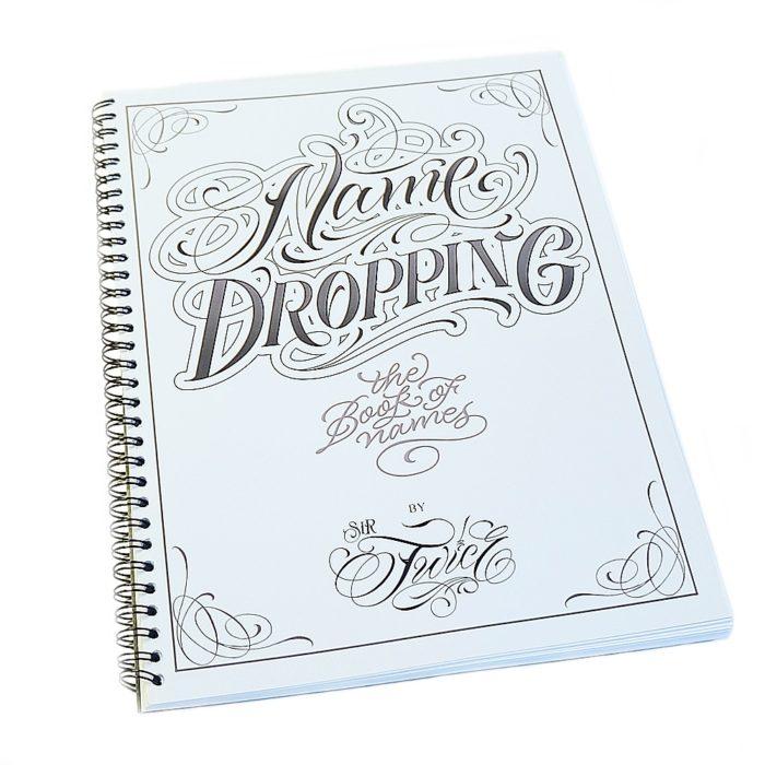 Name Dropping Tattoo Flash Design Book