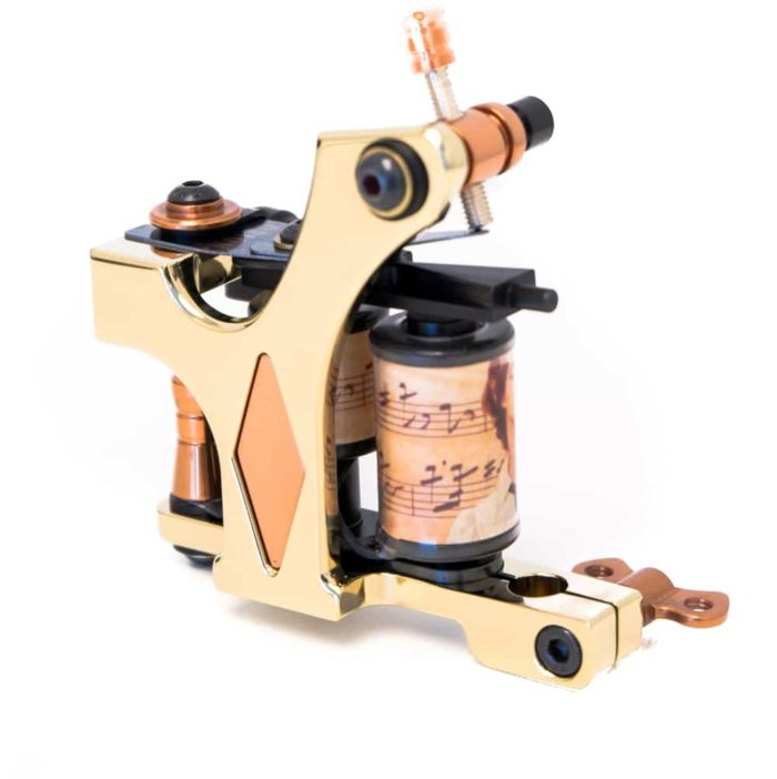 Golden tattoo machine coil diamond liner 1