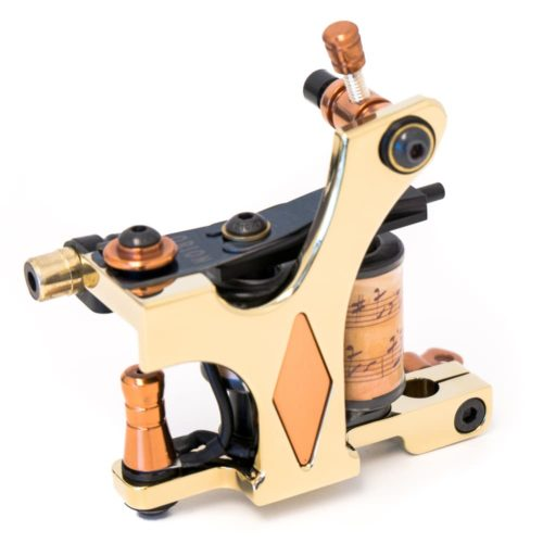 Golden tattoo machine coil diamond liner 2