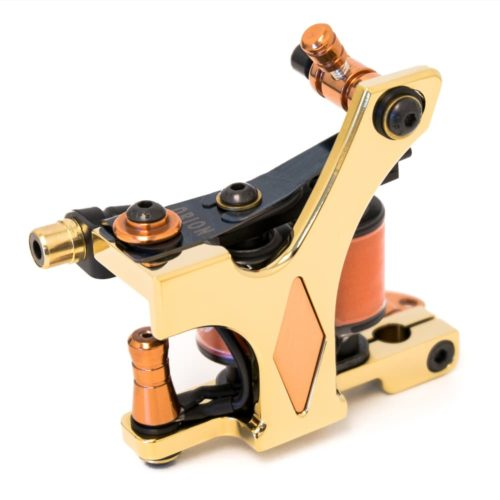 Golden tattoo machine coil diamond shader 2