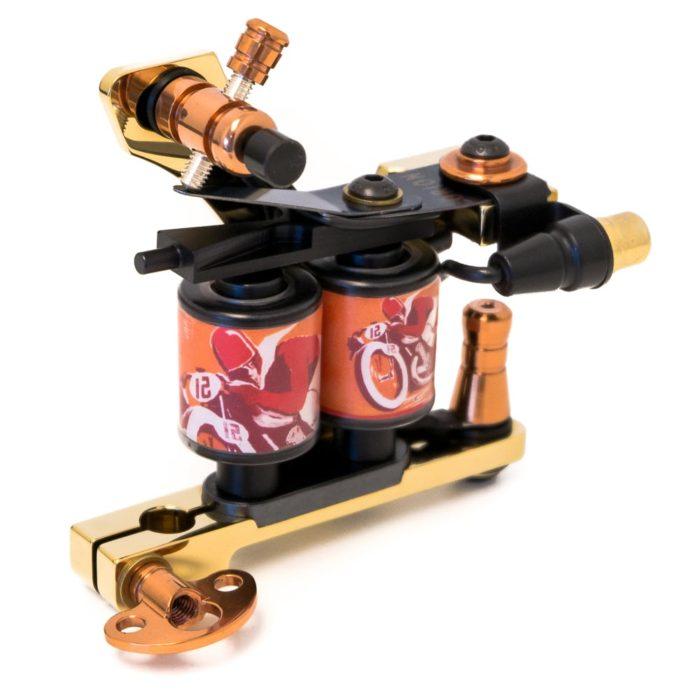 Golden tattoo machine coil diamond shader 4