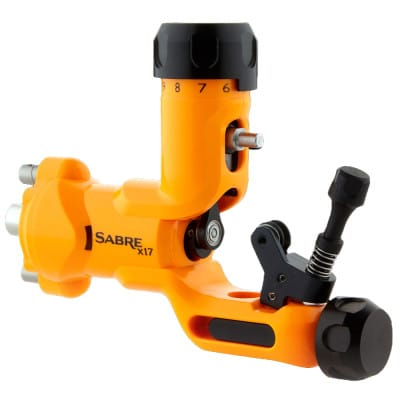 Sabre tattoo machine X17 lava orange front