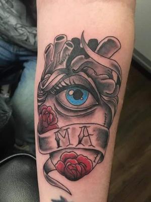 Heart with Eye Tattoo