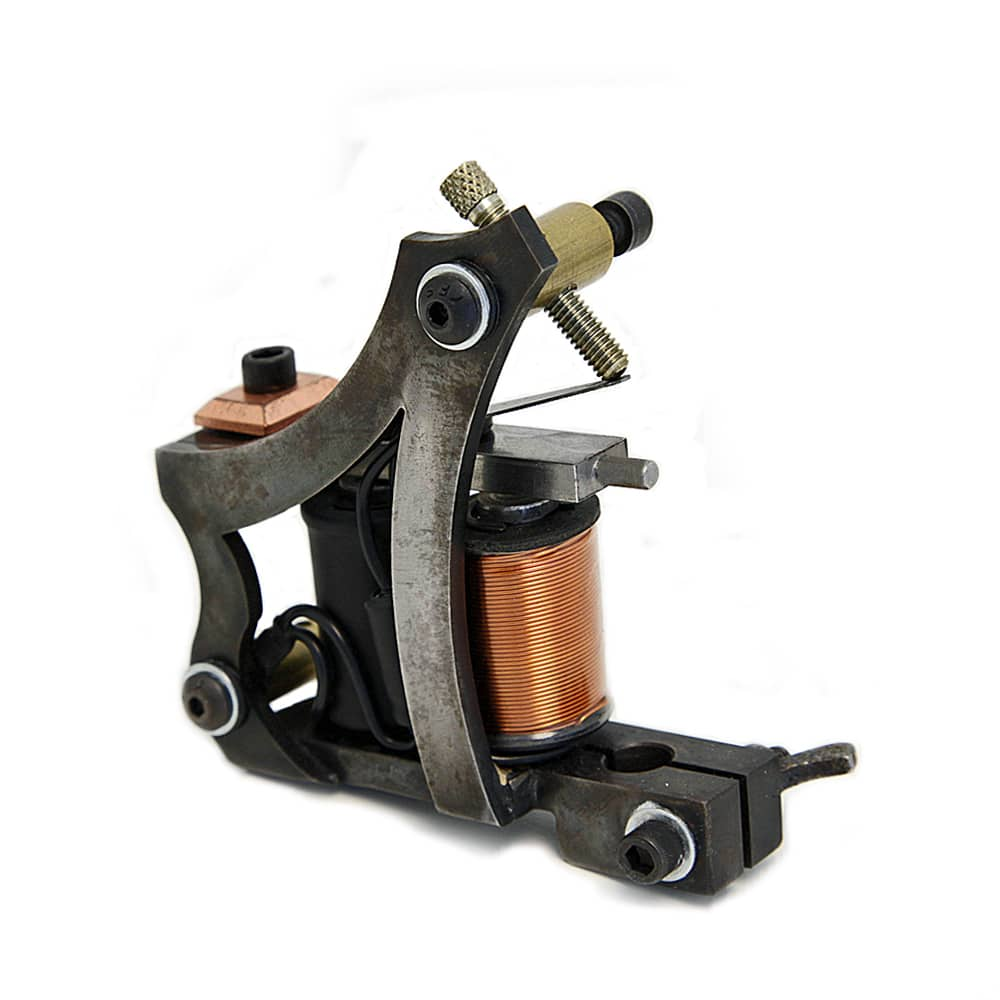 Custom inx tattoo machine jensen style frame steel bg shader for Shader tattoo machine