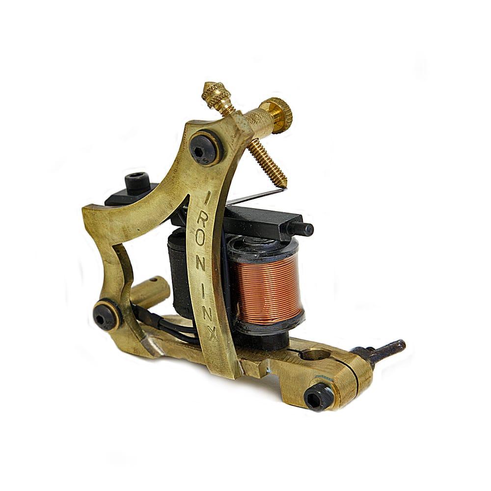 Custom inx tattoo machine jensen style frame brass bg shader for Shader tattoo machine