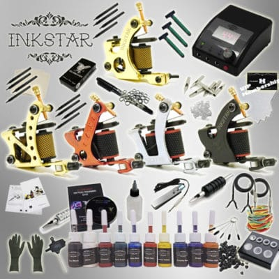 inkstar tattoo ace kit with 10 ink