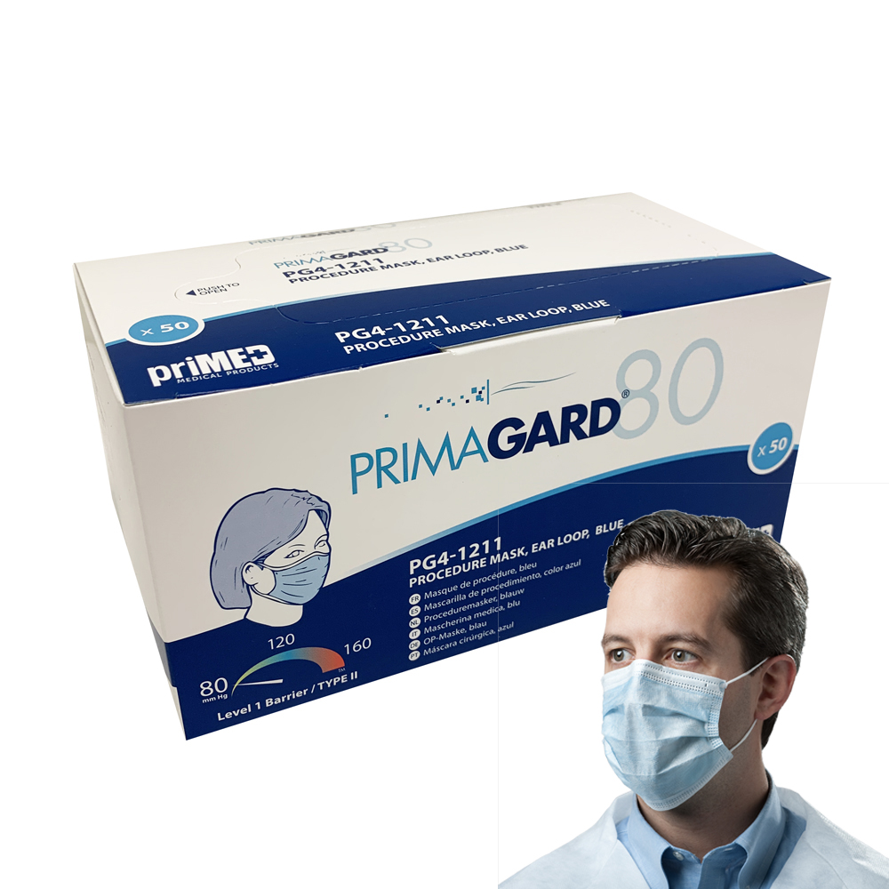 primed surgical face mask