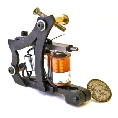 iron inx tattoo machine jensen matt black shader