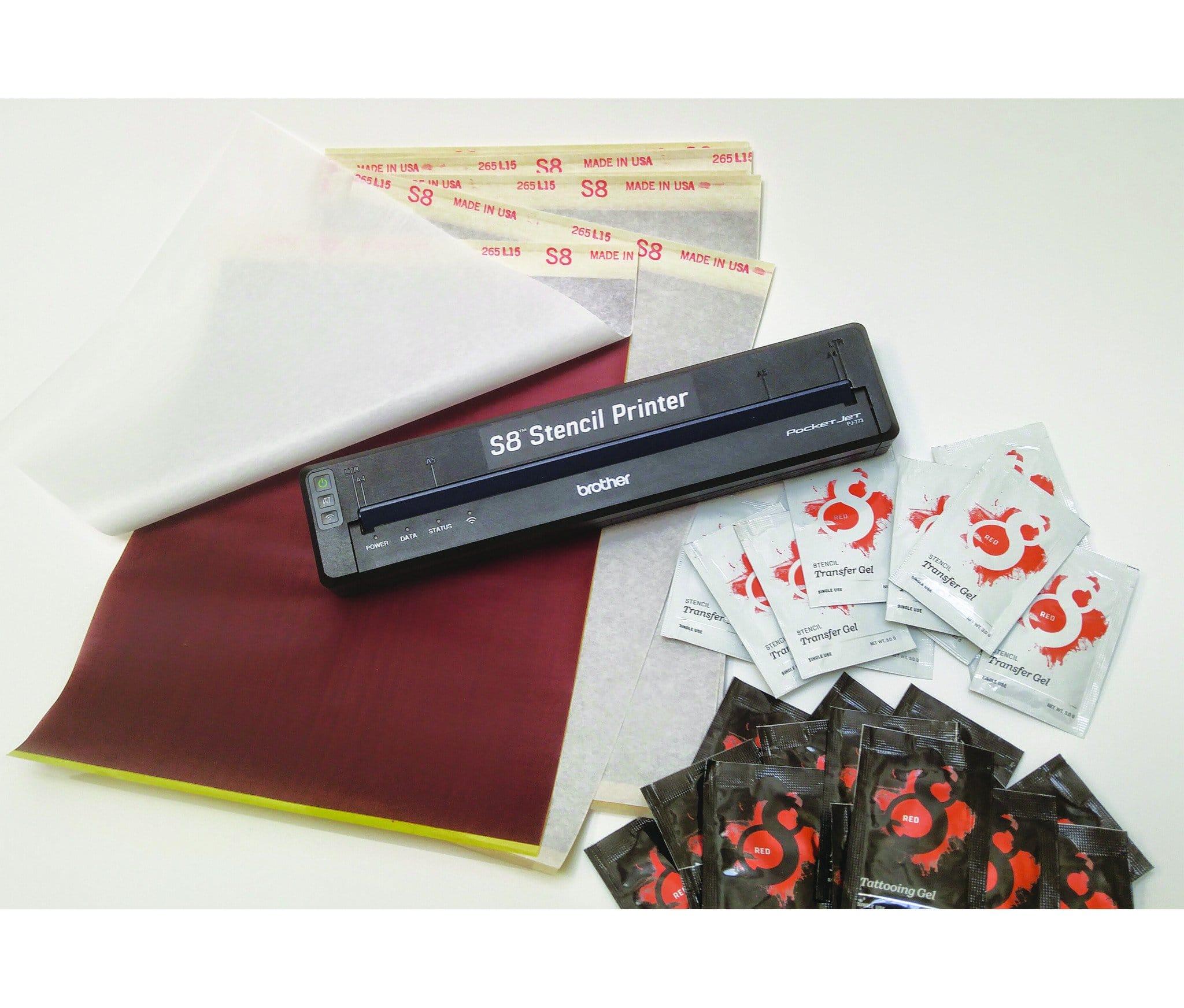 S8 Tattoo Stencil Printer USB Kit 5
