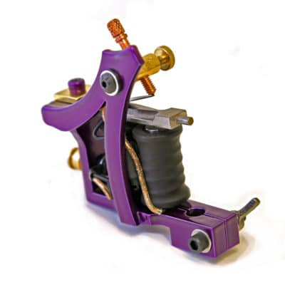 iron inx tattoo machine modified jensen purple liner