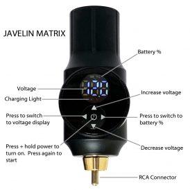 Matrix Portable Tattoo Power Supply Instructions