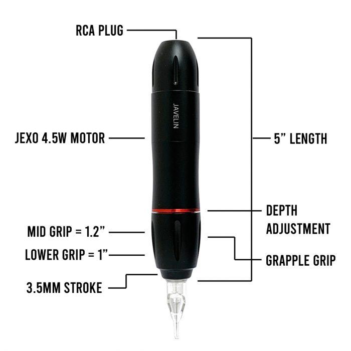 Javelin Spear Tattoo Pen Diagram