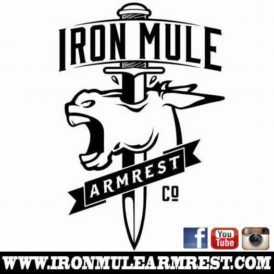 Iron Mule Custom Tattoo Armrest - White