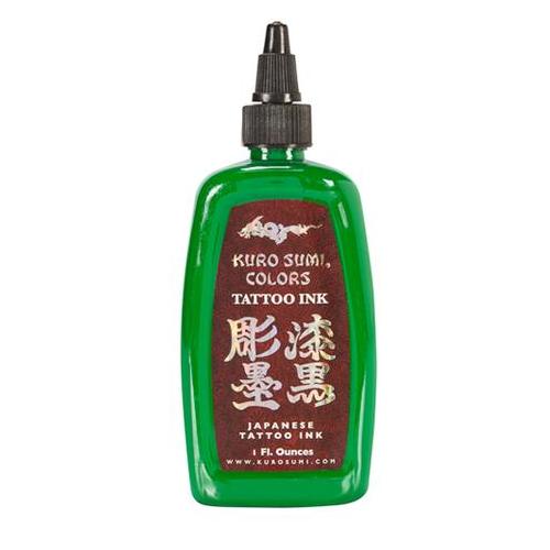 Kuro Sumi Tattoo Ink - Green Apple Blossom