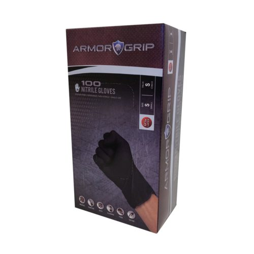 Armor Grip Black Nitrile Gloves 2