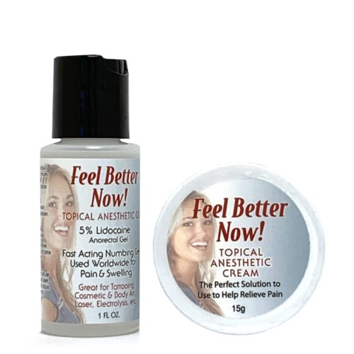 Feel Better Now Anesthetic Numbing Gel & Cream