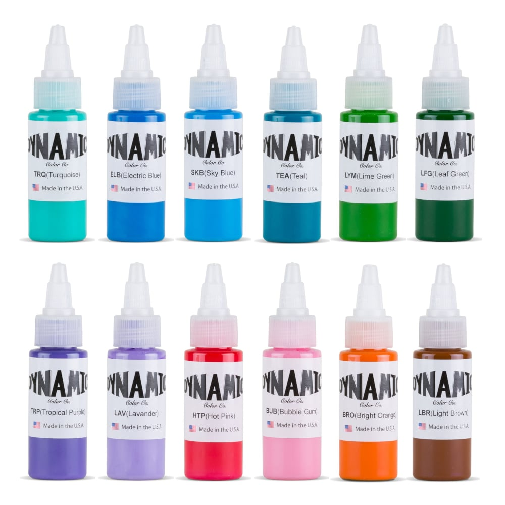 Tattoo Ink set - Dynamic Color Blends 1oz