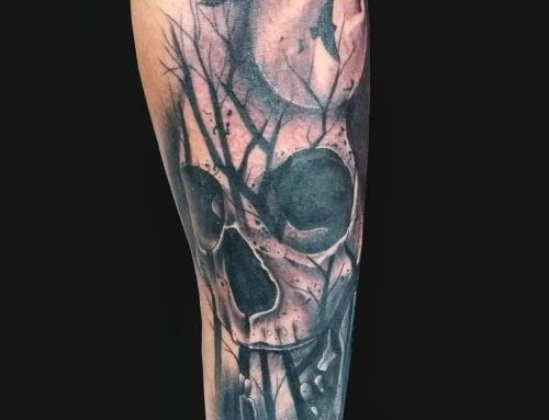 Tattoo Submission – Dark and Eerie Forest Piece.