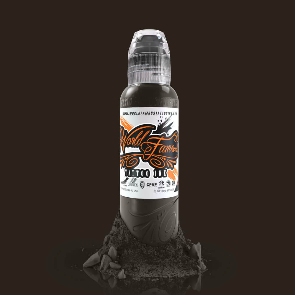 World Famous Tattoo Ink - Badlands Brown