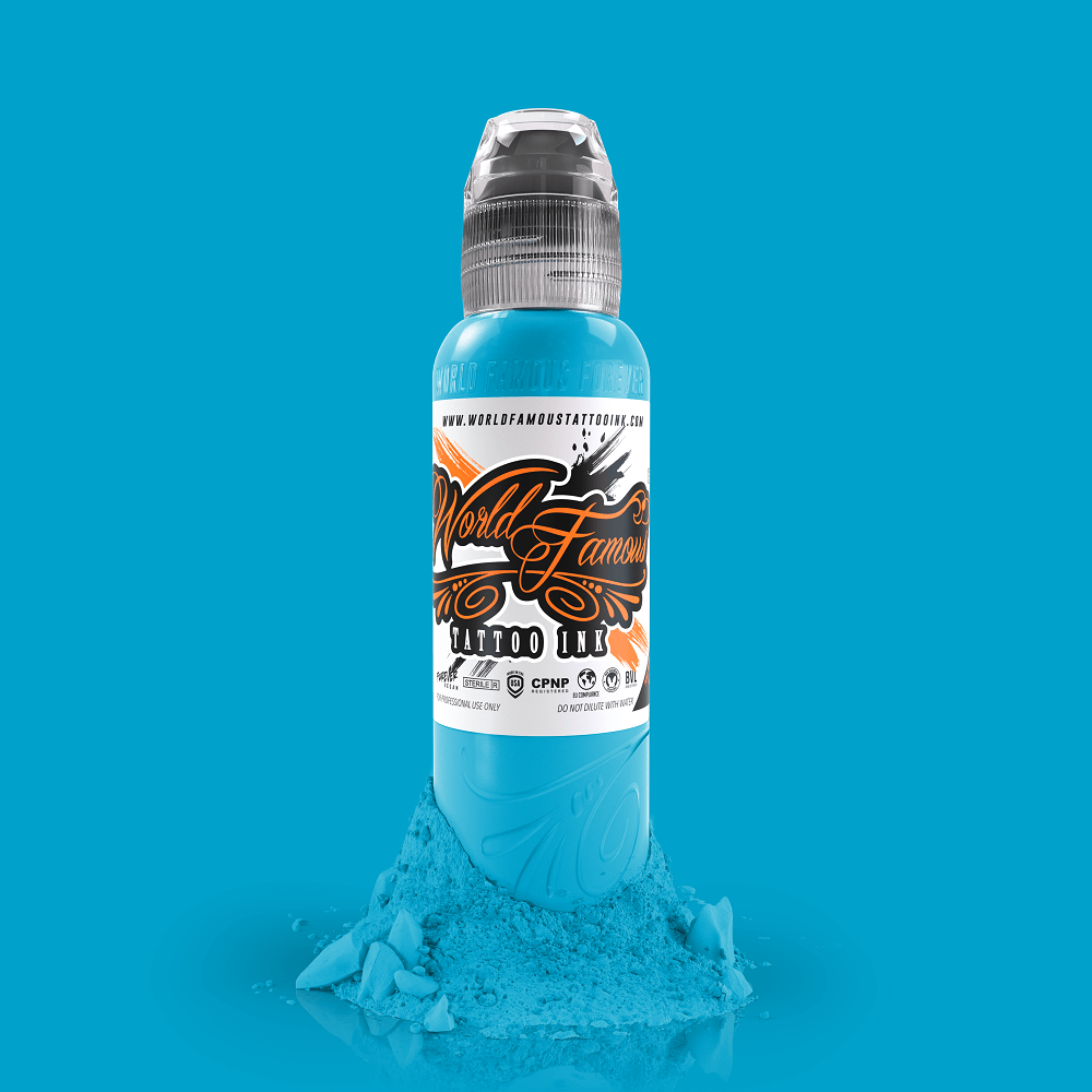 World Famous Tattoo Ink - Greenland Ice Blue