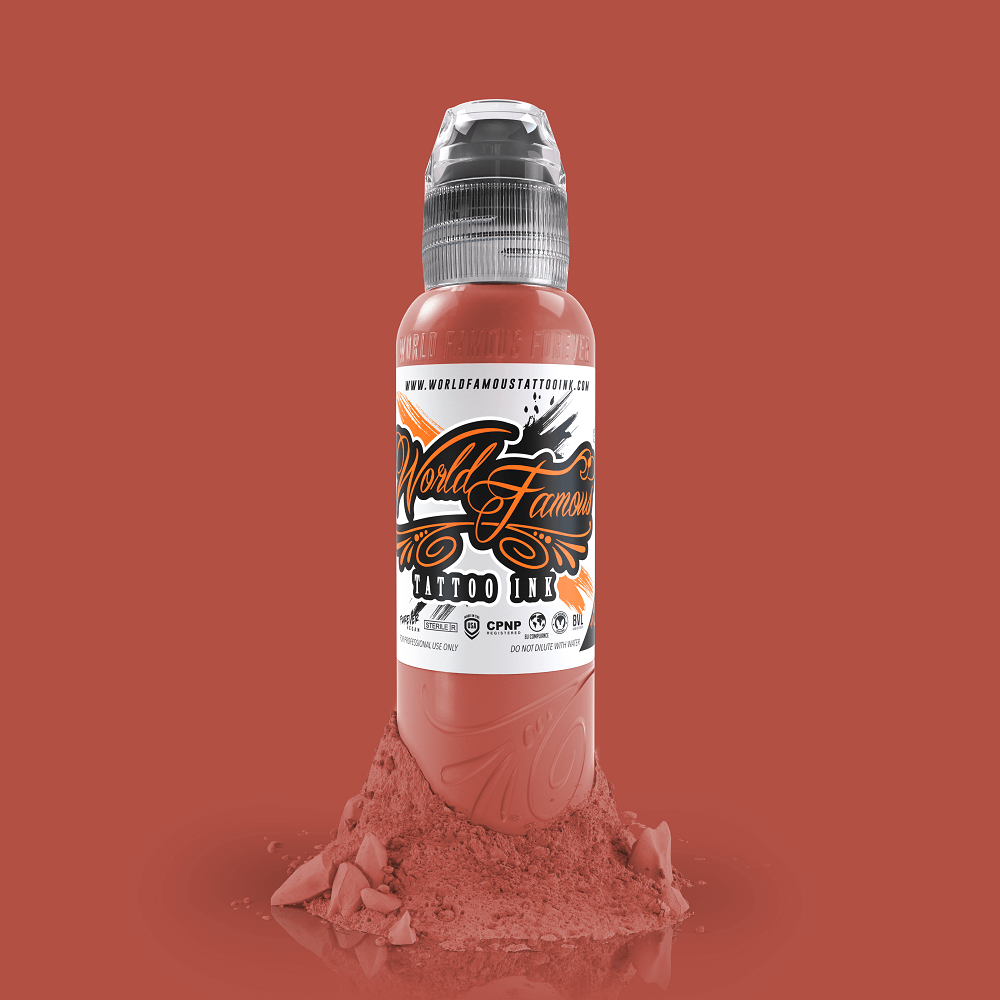 World Famous Tattoo Ink - Mars Sand Red